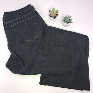 4079  GAP Black Denim Flare Trouser Jeans 14 L